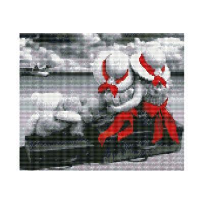 Купить АЛМАЗНАЯМОЗАИКА«ПОДРУЖКИУМОРЯ»,30Х40СМ,STRATEG(HX049)