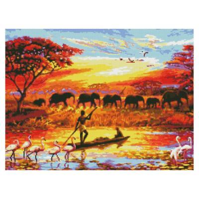 Купить АЛМАЗНАЯКАРТИНА«ЖИЗНЬАФРИКИ»,50Х60СМ,STRATEG(HA0002)