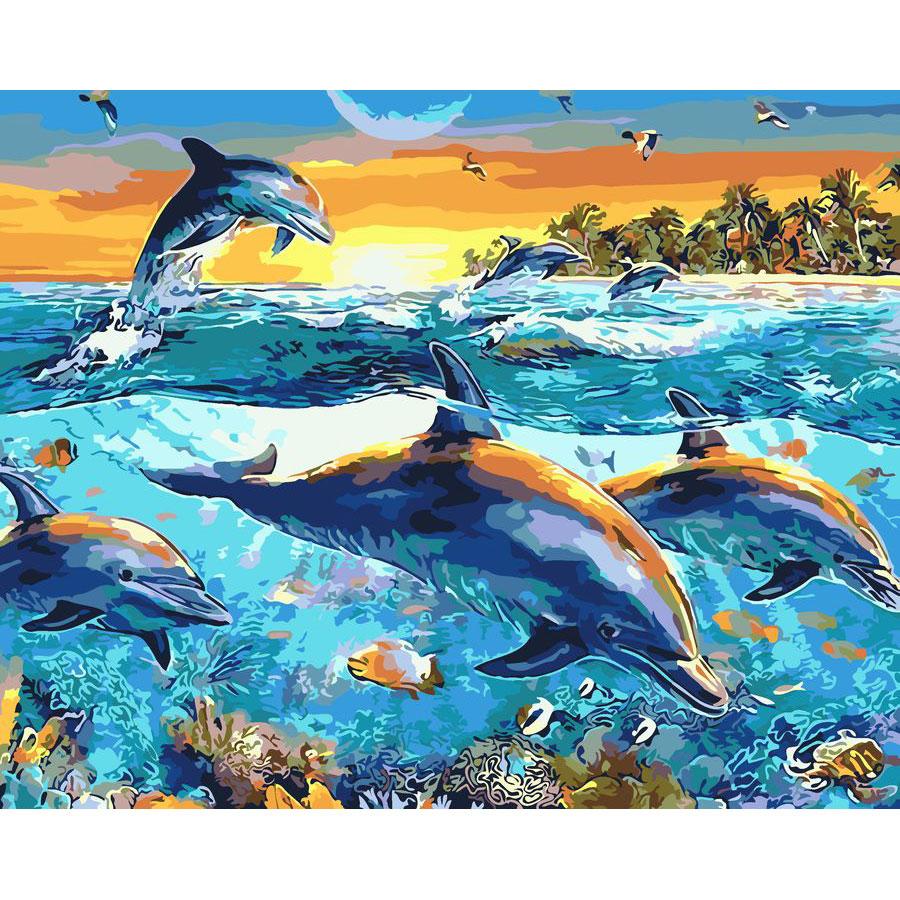 artstory Картина по номерам Подводные глубины, 40х50 см в коробке, ArtStory (AS0077)
