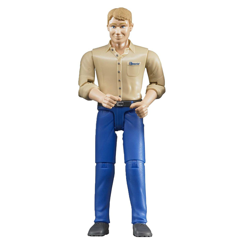 bruder Фигурка мужчины в голубых джинсах, 10.7см, Bruder (60006)