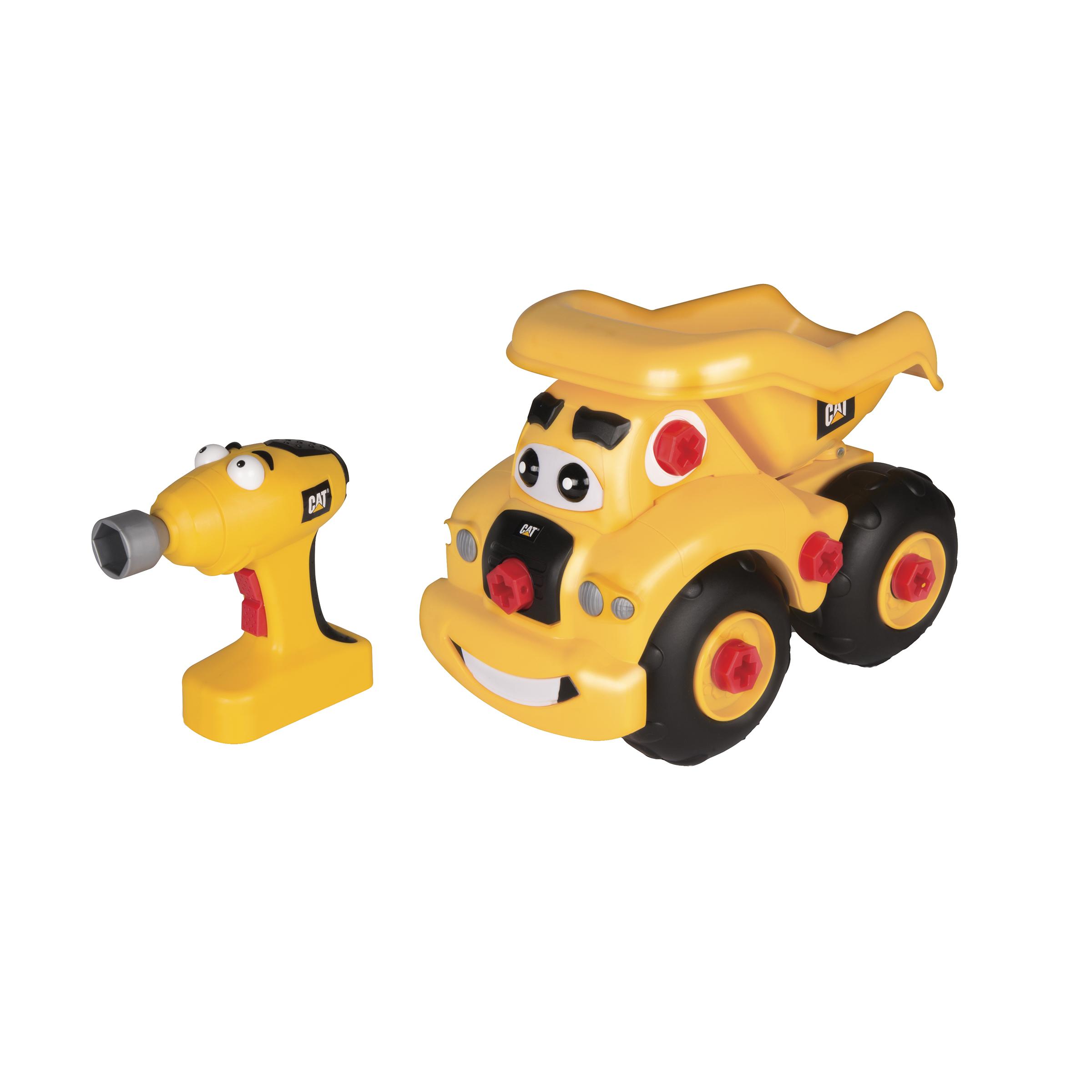 toy state Инерционная машинка конструктор САТ Самосвал Гарри с отверткой, 6 эл., Toy State (80466)