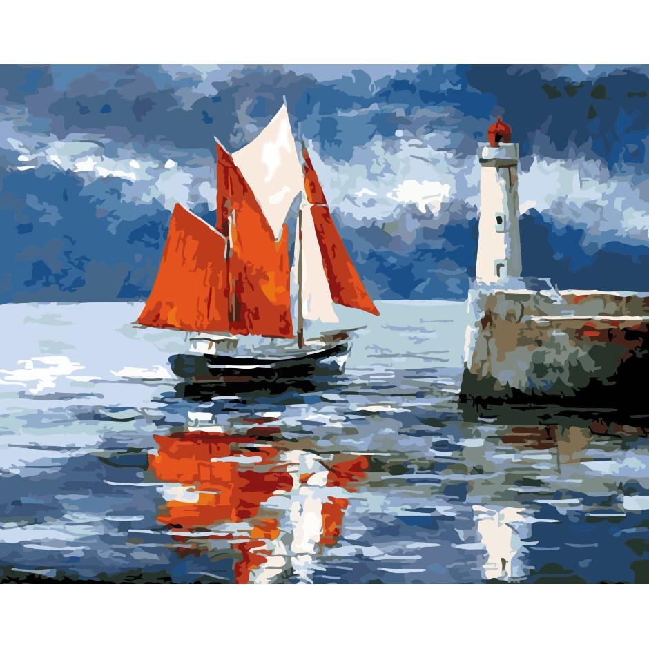 artstory Картина по номерам Алые паруса, 40х50 см в коробке, ArtStory (AS0152)