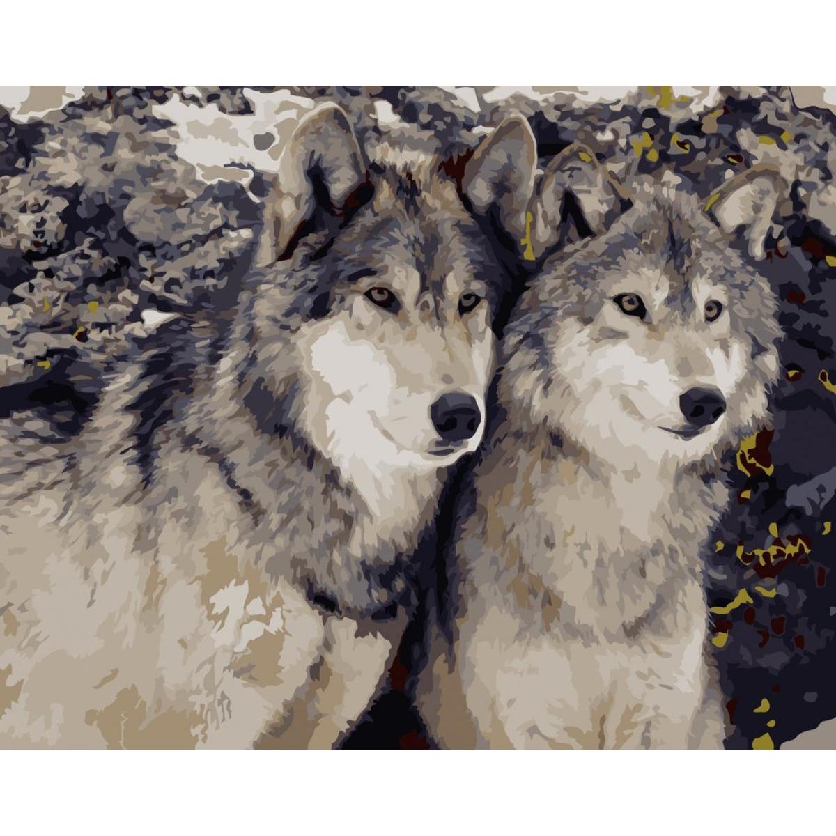 artstory Картина по номерам Преданность волка, 40х50 см в коробке, ArtStory (AS0170)