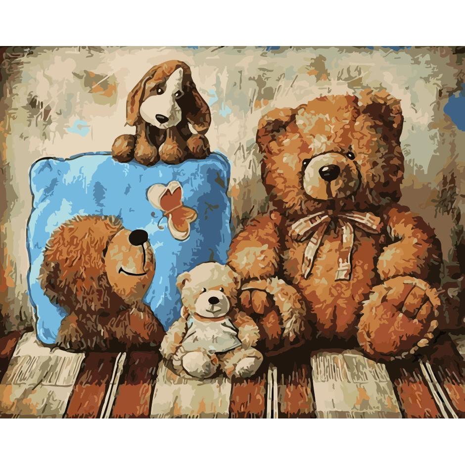 artstory Картина Плюшевые друзья, 40х50 см, ArtStory (AS0212)