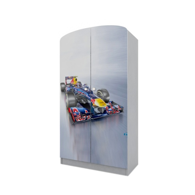Вальтер Шкаф платяной Formula 1, серый, Вальтер (H-10.08.55)