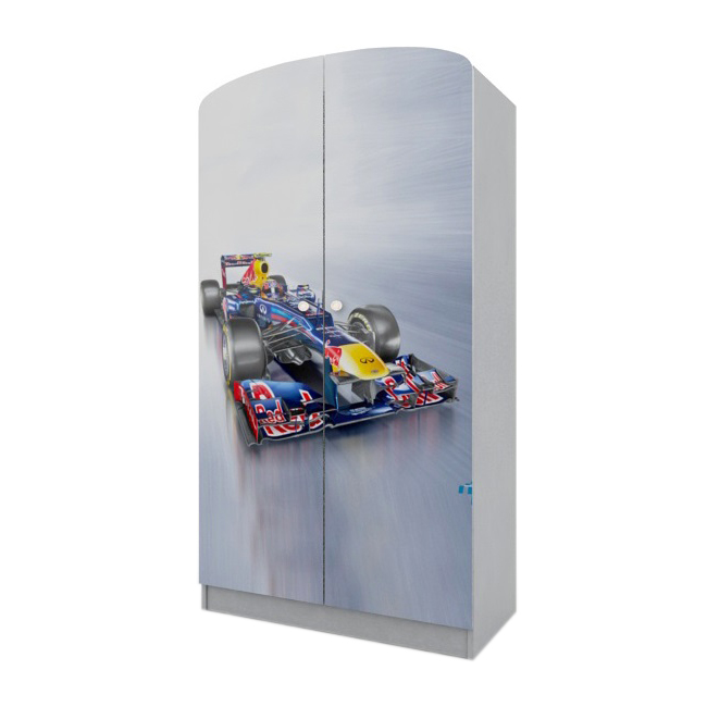 Вальтер Шкаф платяной Formula 1, ящик, серый, Вальтер (HY-10.10.55)