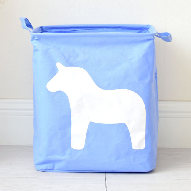 berni Корзина для игрушек Horse blue, 35х25х40 см, Berni (43478)