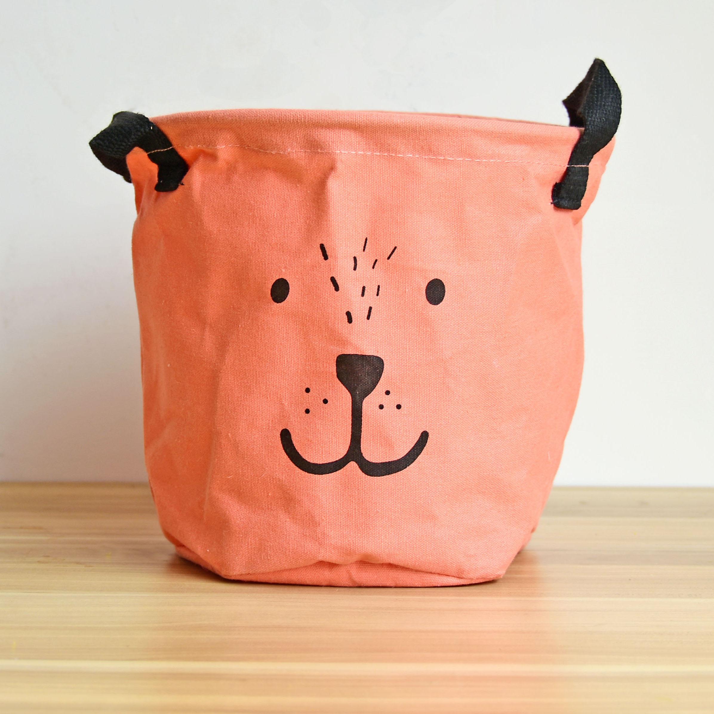 berni Корзина для игрушек Bear pink, 18,5х20 см, Berni (43439)