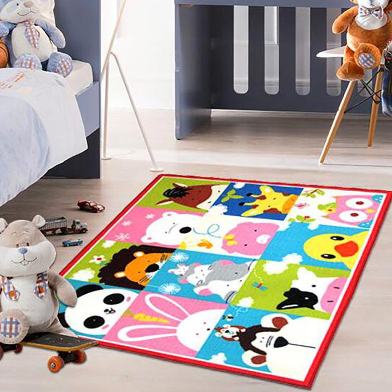 berni Коврик для детской комнаты Cartoon Animals, 100х130 см, Berni (45976)