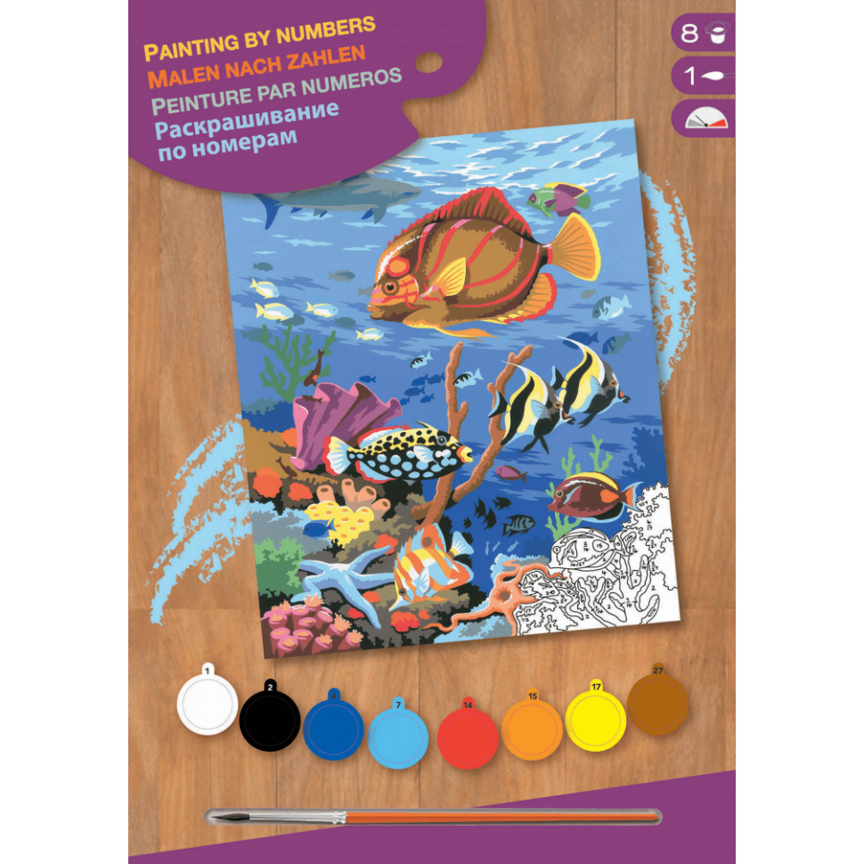 sequin art Картина по номерам JUNIOR Coral Scene, 30х23 см, Sequin Art (SA0032)